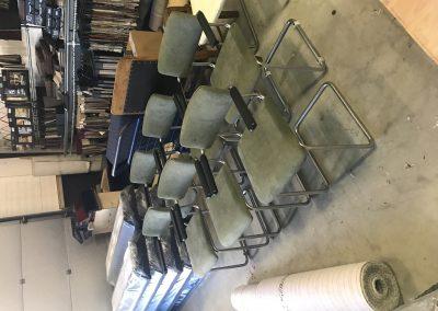 6 Gispen stoelen geherstoffeerd met Alcantara stof